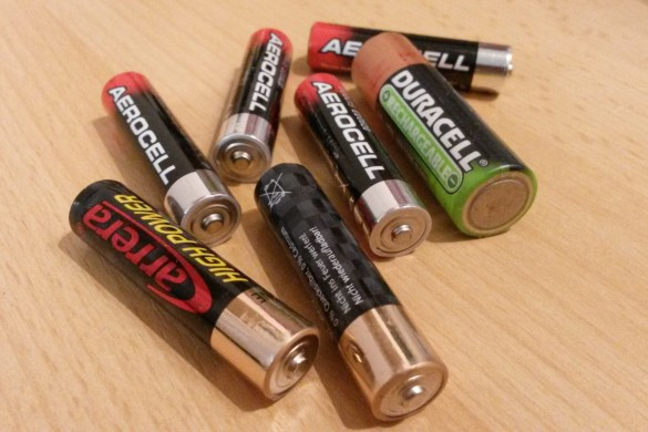 empty batteries