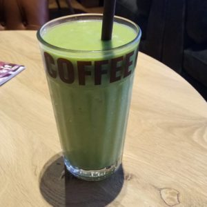 coffeefellows green smoothie Spinach avocado mint and lime juice Thehellip
