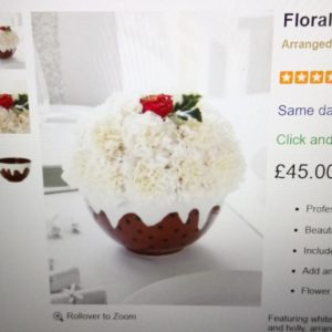 On the Interflora website UK and saw this!!! I wouldhellip