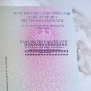 Permenant residency permit? Check!  allowed to stay in Germanyhellip